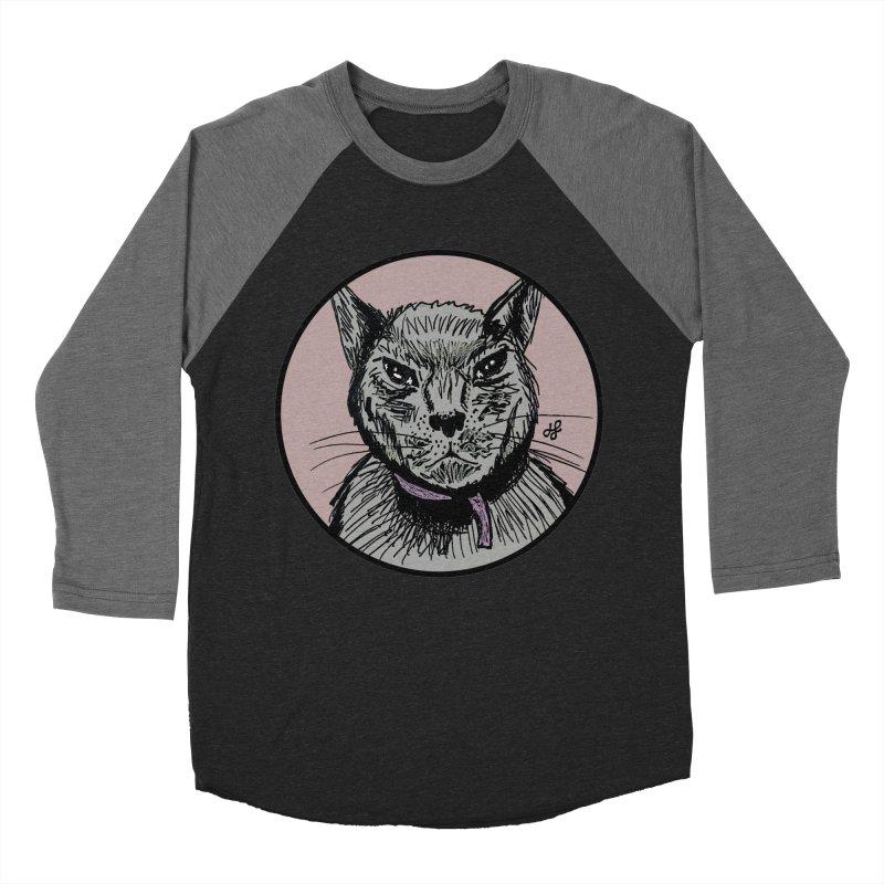 """""""murder cat"""" Men's Baseball Triblend Longsleeve T-Shirt by J. Lavallee's Artist Shop"""