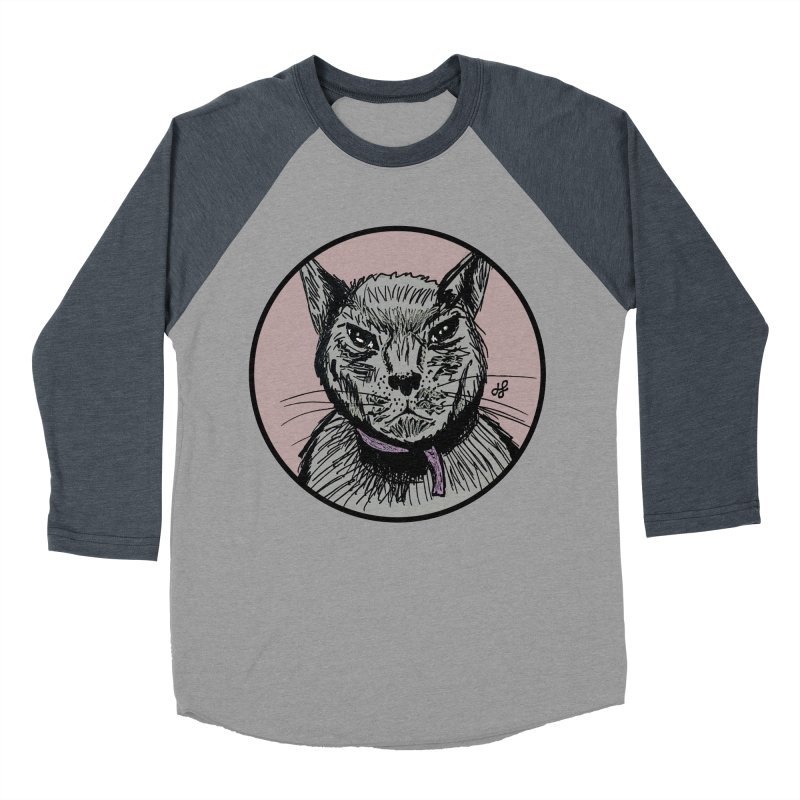 """murder cat"" Men's Baseball Triblend Longsleeve T-Shirt by J. Lavallee's Artist Shop"