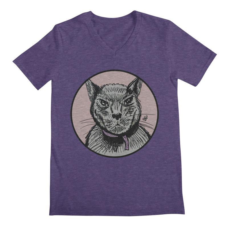 """murder cat"" Men's Regular V-Neck by J. Lavallee's Artist Shop"