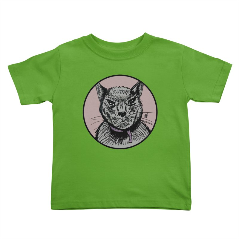"""murder cat"" Kids Toddler T-Shirt by J. Lavallee's Artist Shop"