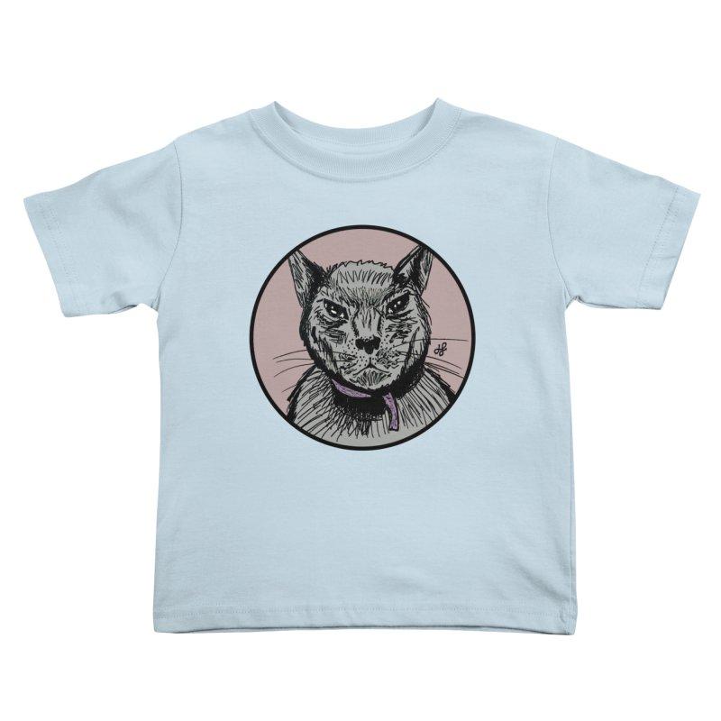 """murder cat"" Kids Toddler T-Shirt by J. Lavallee's Artist Shop"