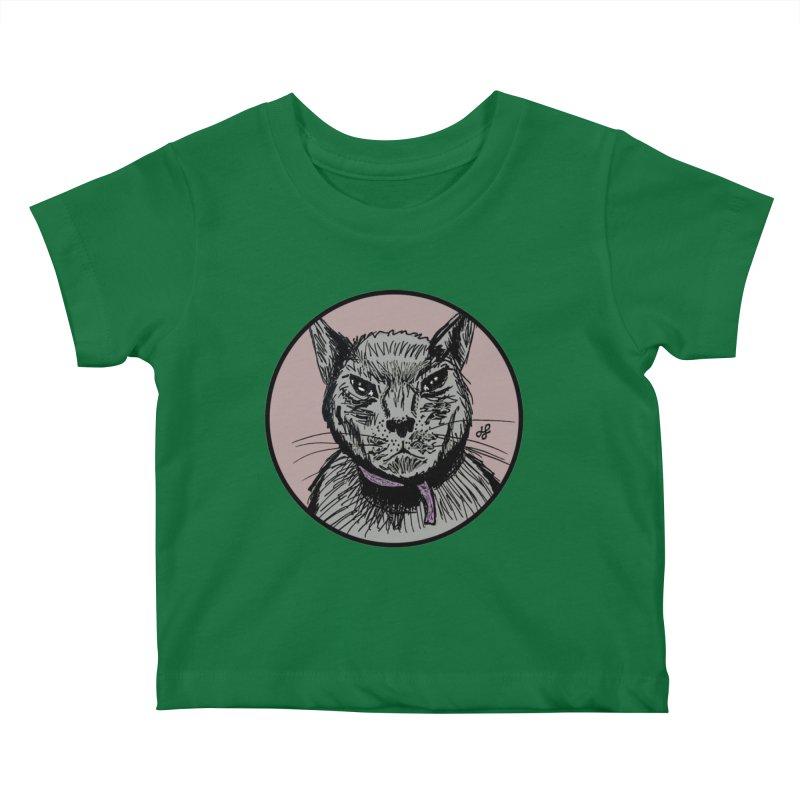 """murder cat"" Kids Baby T-Shirt by J. Lavallee's Artist Shop"