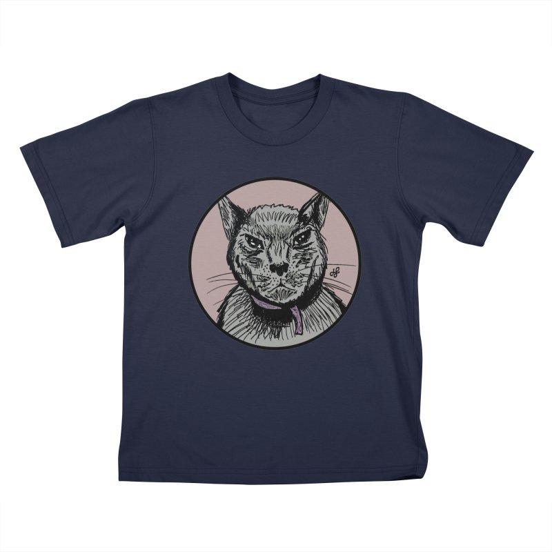 """murder cat"" Kids T-Shirt by J. Lavallee's Artist Shop"