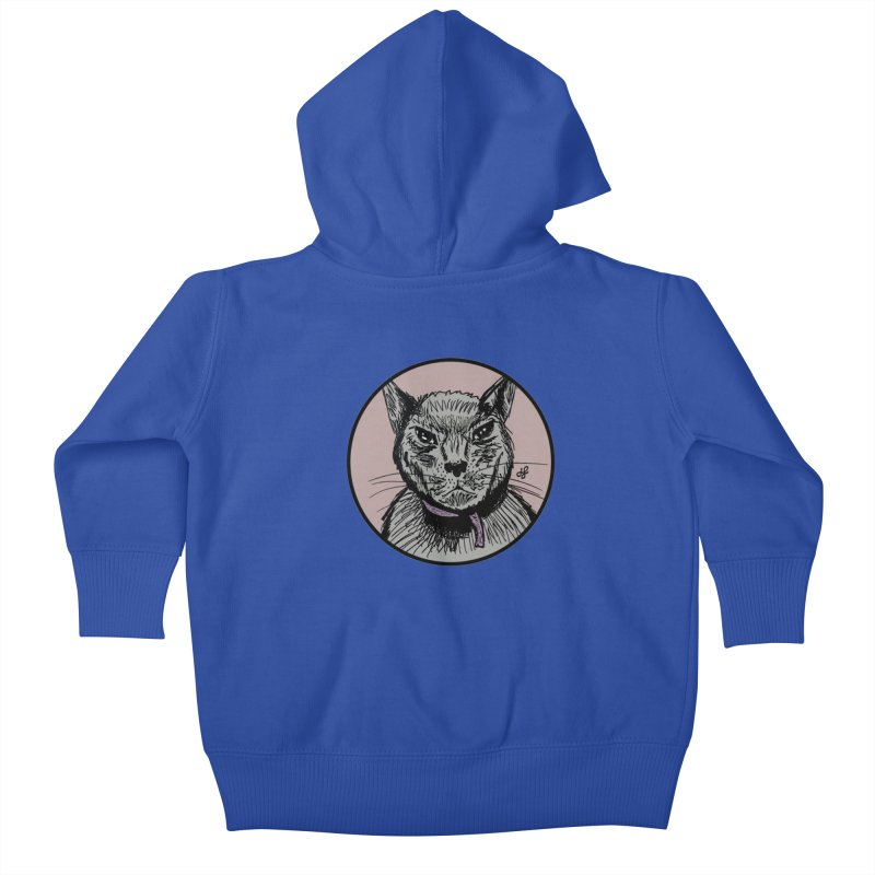 """murder cat"" Kids Baby Zip-Up Hoody by J. Lavallee's Artist Shop"