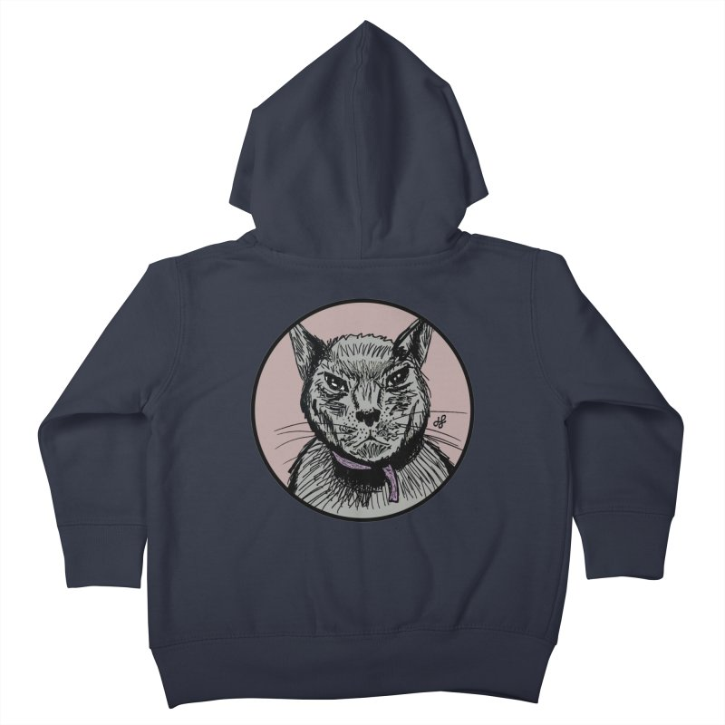 """murder cat"" Kids Toddler Zip-Up Hoody by J. Lavallee's Artist Shop"