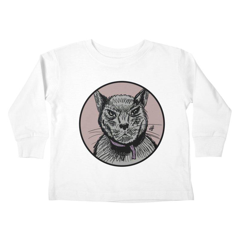 """""""murder cat"""" Kids Toddler Longsleeve T-Shirt by J. Lavallee's Artist Shop"""