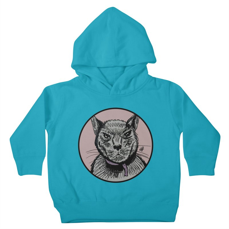 """murder cat"" Kids Toddler Pullover Hoody by J. Lavallee's Artist Shop"