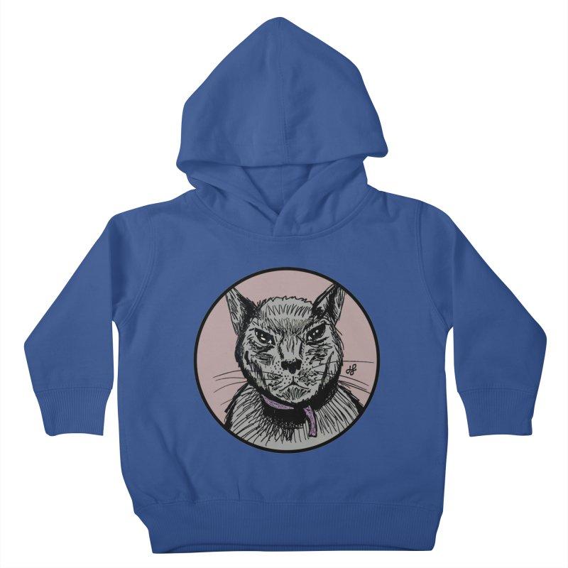 """murder cat"" Kids Toddler Pullover Hoody by J. Lavallee's Artist Shop"