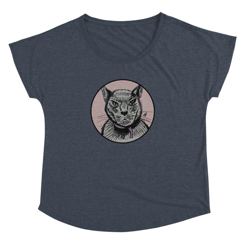 """""""murder cat"""" Women's Dolman Scoop Neck by J. Lavallee's Artist Shop"""