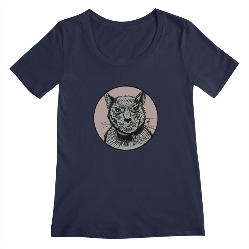 """murder cat"" Women's Regular Scoop Neck by J. Lavallee's Artist Shop"