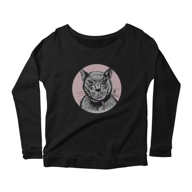 """""""murder cat"""" Women's Scoop Neck Longsleeve T-Shirt by J. Lavallee's Artist Shop"""
