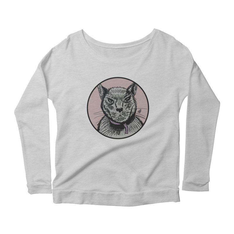 """murder cat"" Women's Longsleeve T-Shirt by J. Lavallee's Artist Shop"