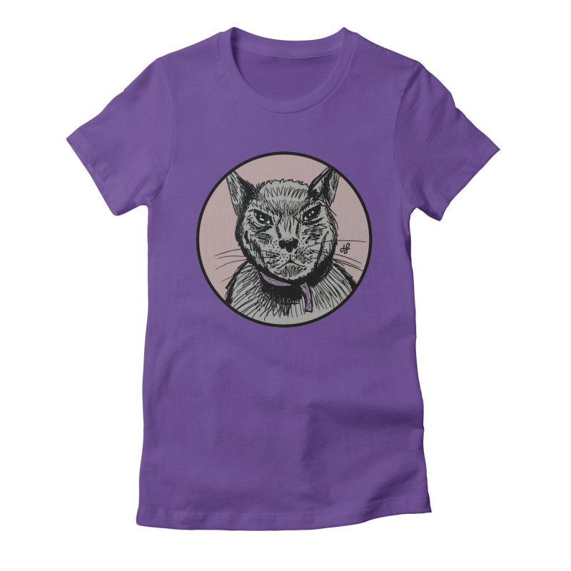 """""""murder cat"""" Women's Fitted T-Shirt by J. Lavallee's Artist Shop"""
