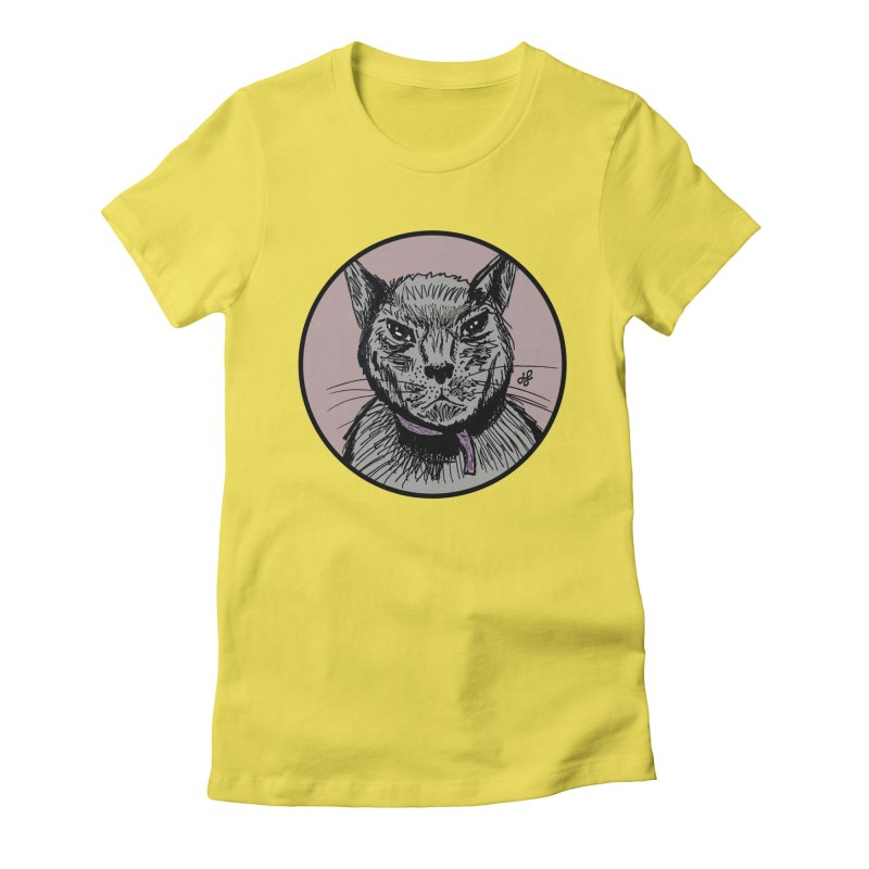 """murder cat"" Women's Fitted T-Shirt by J. Lavallee's Artist Shop"