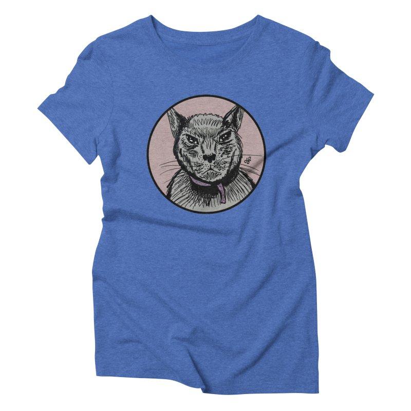 """""""murder cat"""" Women's Triblend T-Shirt by J. Lavallee's Artist Shop"""