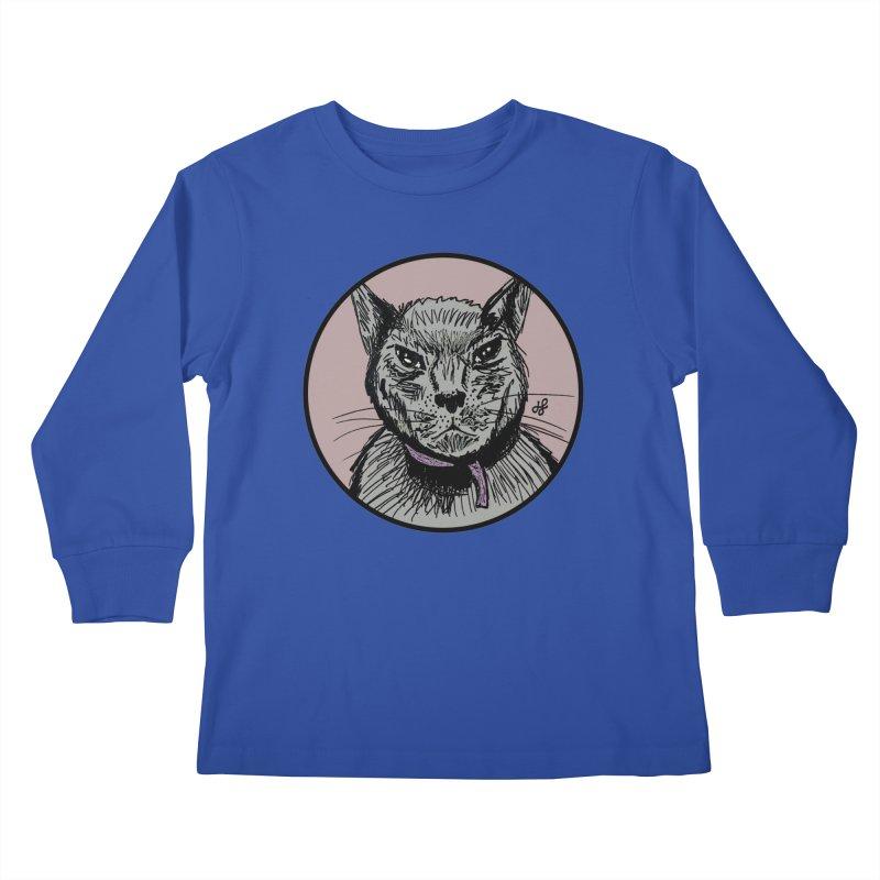 """murder cat"" Kids Longsleeve T-Shirt by J. Lavallee's Artist Shop"
