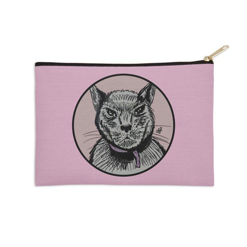 """""""murder cat"""" Accessories Zip Pouch by J. Lavallee's Artist Shop"""