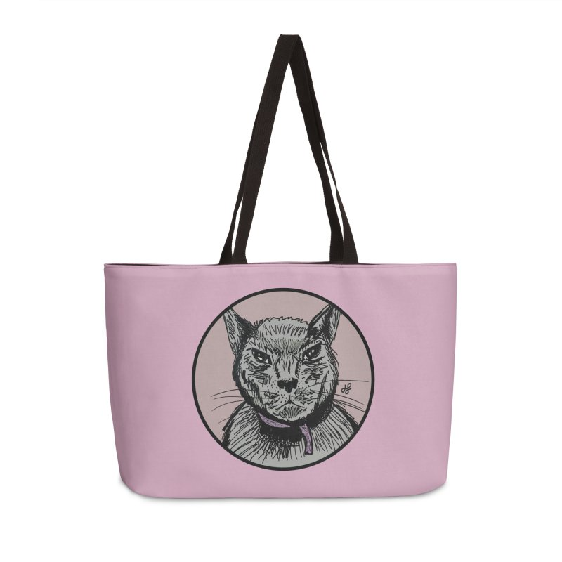 """murder cat"" Accessories Weekender Bag Bag by J. Lavallee's Artist Shop"