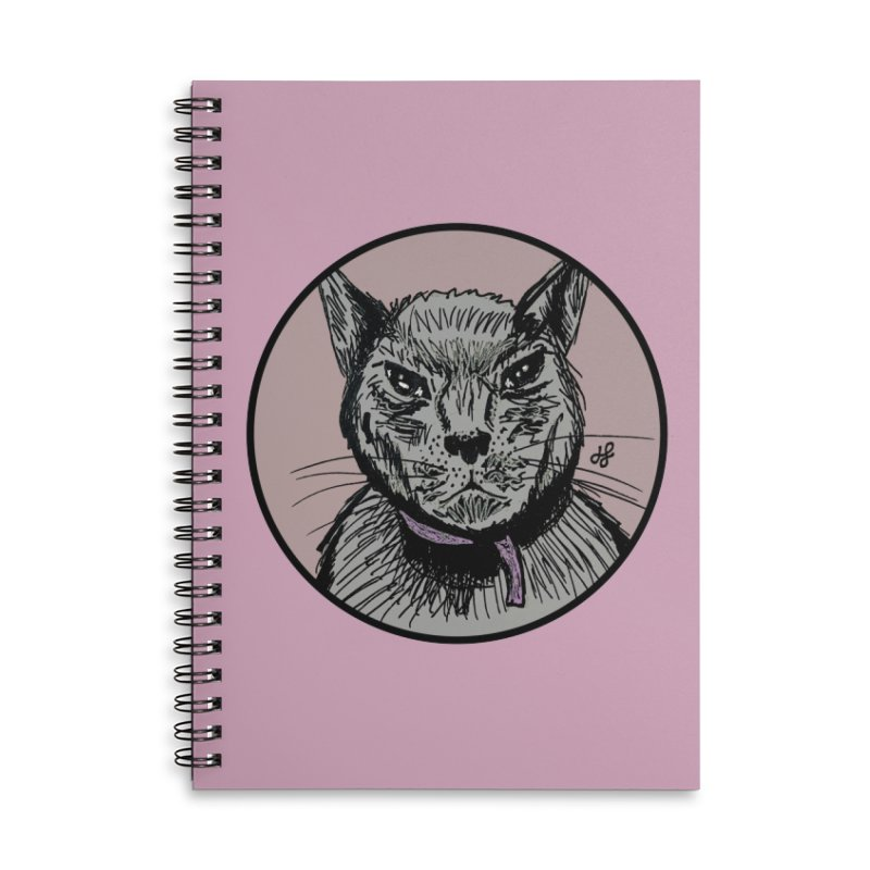 """murder cat"" Accessories Lined Spiral Notebook by J. Lavallee's Artist Shop"