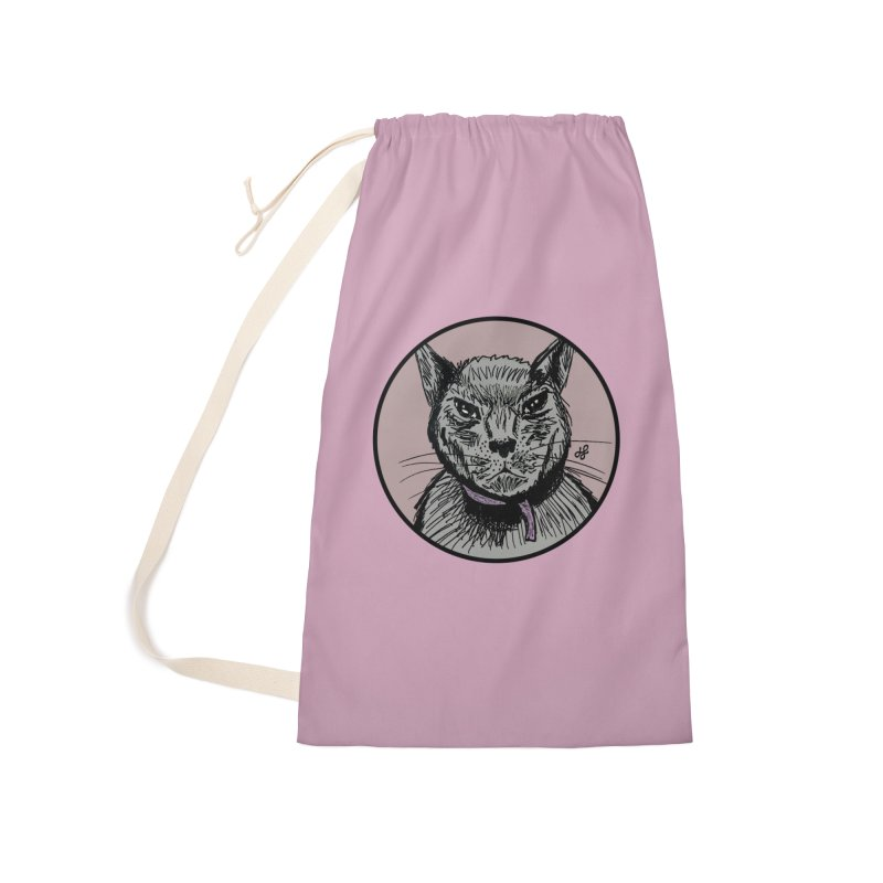 """murder cat"" Accessories Laundry Bag Bag by J. Lavallee's Artist Shop"