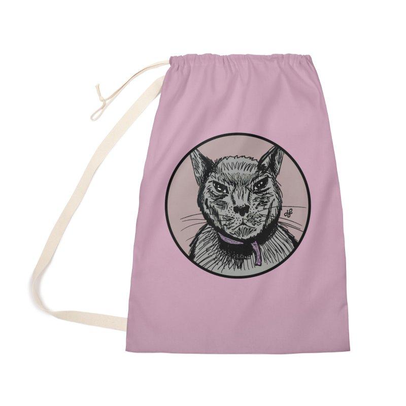 """murder cat"" Accessories Bag by J. Lavallee's Artist Shop"