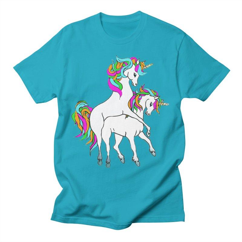 Unicorn Love Men's T-Shirt by Lili Valente Makes Stuff
