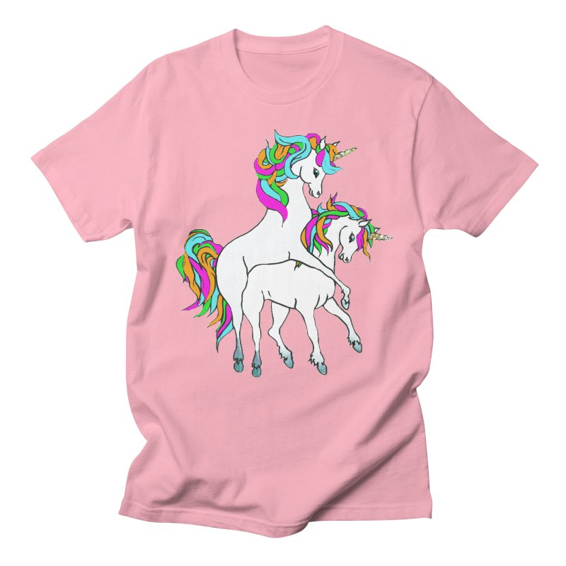 Unicorn Love Men's Regular T-Shirt by Lili Valente Makes Stuff