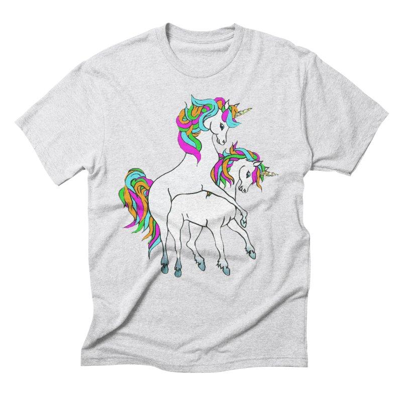 Unicorn Love Men's Triblend T-Shirt by Lili Valente Makes Stuff