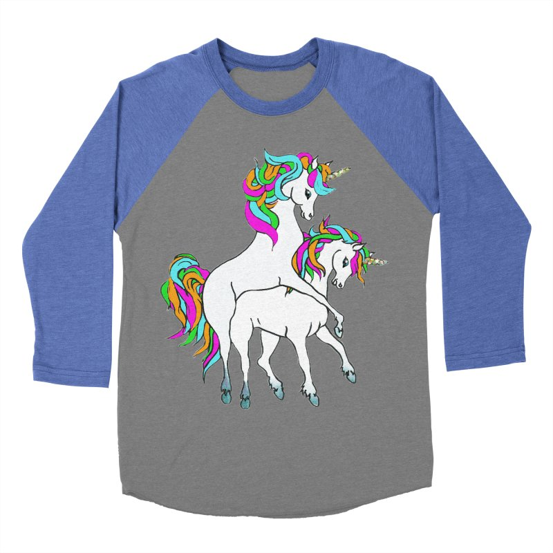 Unicorn Love Women's Baseball Triblend Longsleeve T-Shirt by Lili Valente Makes Stuff