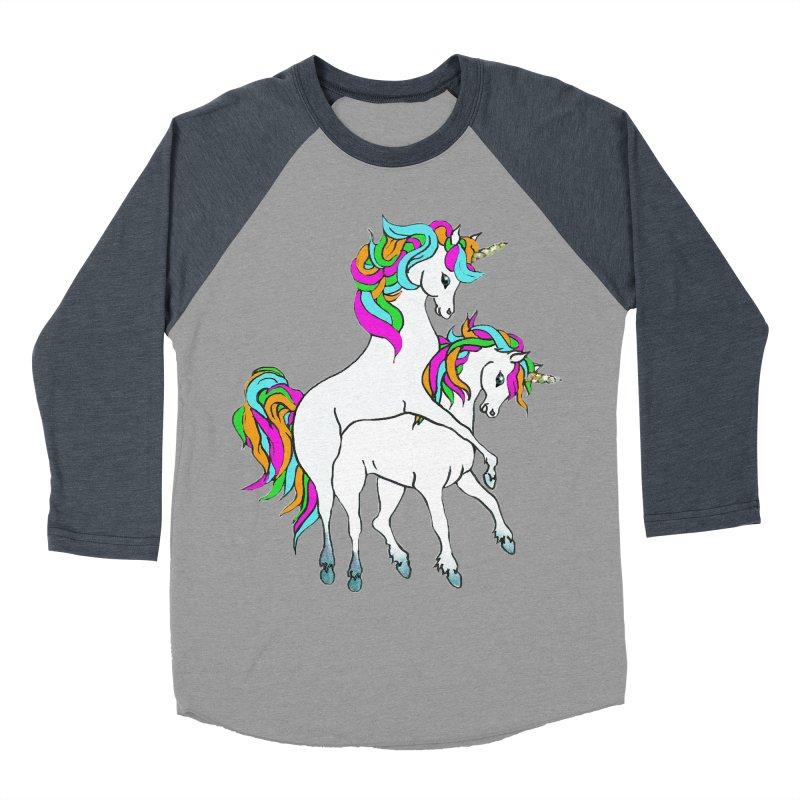 Unicorn Love Men's Baseball Triblend Longsleeve T-Shirt by Lili Valente Makes Stuff
