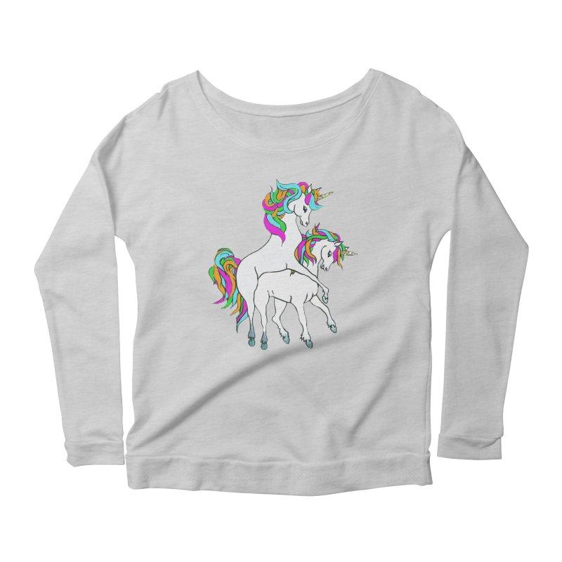 Unicorn Love Women's Longsleeve T-Shirt by Lili Valente Makes Stuff