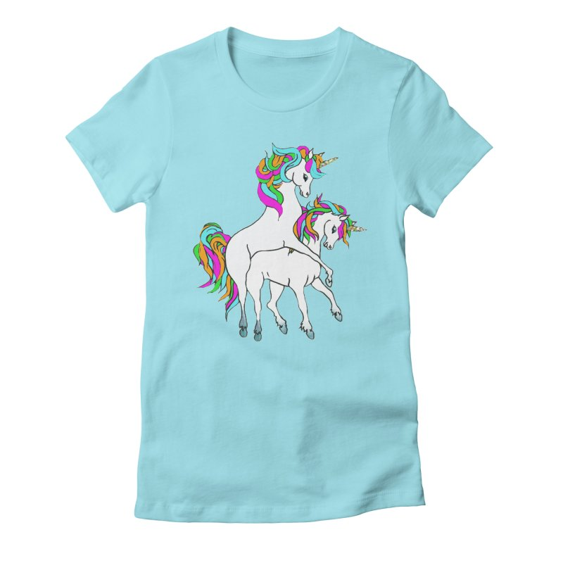 Unicorn Love Women's Fitted T-Shirt by Lili Valente Makes Stuff