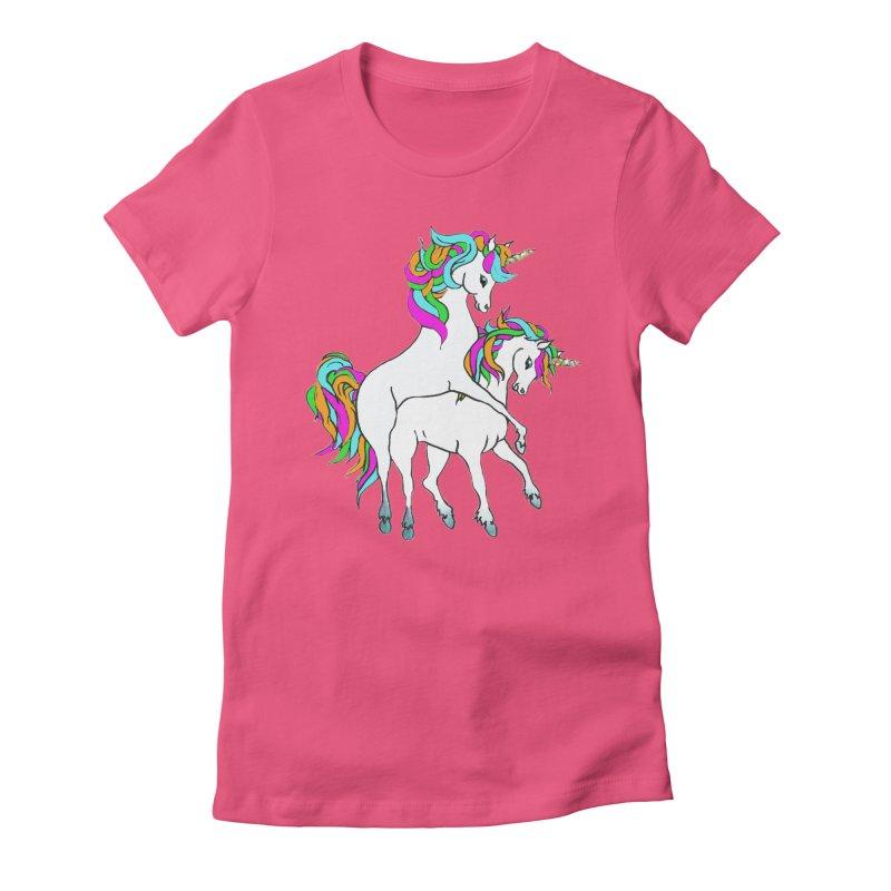 Unicorn Love Women's T-Shirt by Lili Valente Makes Stuff