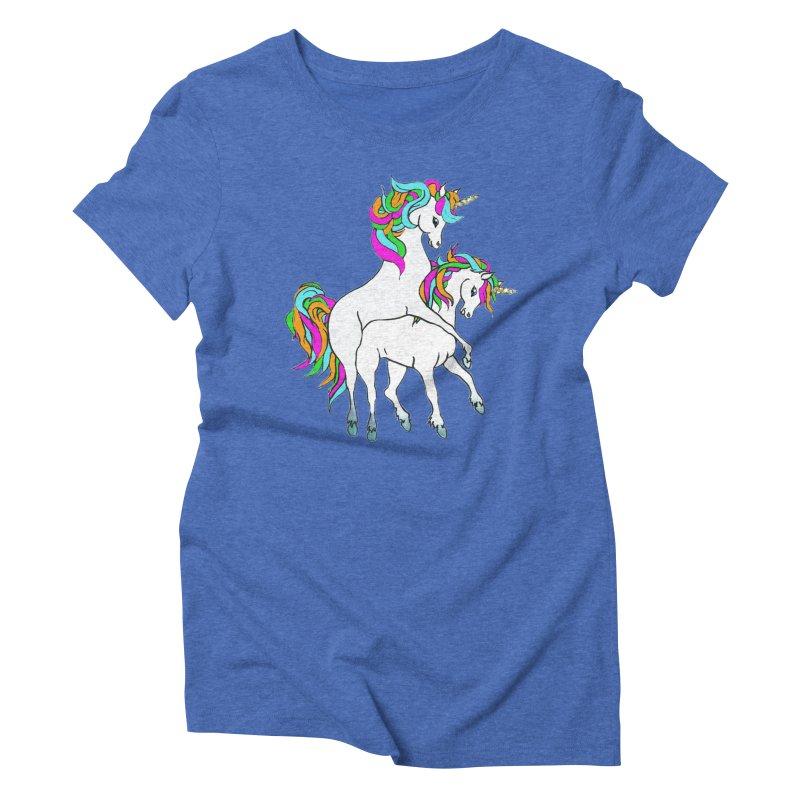 Unicorn Love Women's Triblend T-Shirt by Lili Valente Makes Stuff