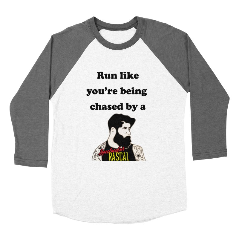 Run like you're being chased by a Spectacular Rascal Men's Baseball Triblend Longsleeve T-Shirt by Lili Valente Makes Stuff