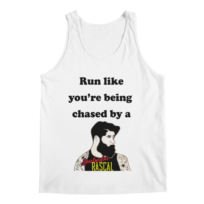 Run like you're being chased by a Spectacular Rascal Men's Tank by Lili Valente Makes Stuff