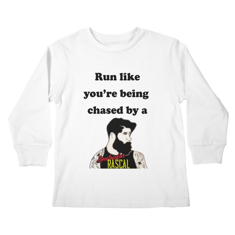Run like you're being chased by a Spectacular Rascal Kids Longsleeve T-Shirt by Lili Valente Makes Stuff