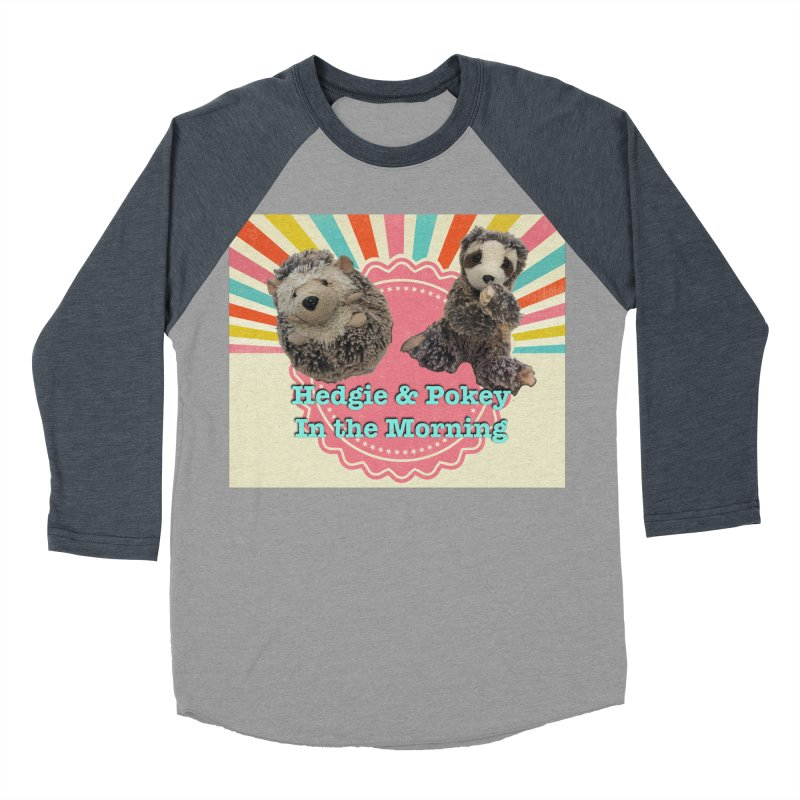 Hedgy and Pokey in the morning! Men's Baseball Triblend Longsleeve T-Shirt by Lili Valente Makes Stuff