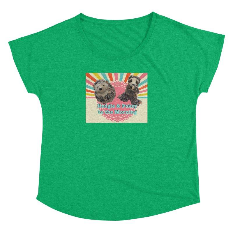 Hedgy and Pokey in the morning! Women's Dolman Scoop Neck by Lili Valente Makes Stuff