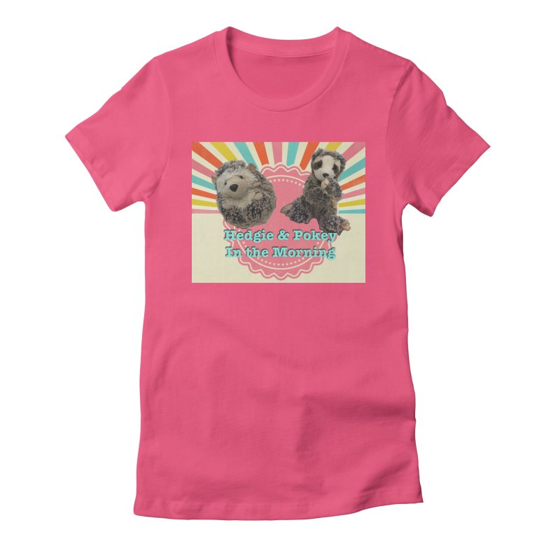 Hedgy and Pokey in the morning! Women's Fitted T-Shirt by Lili Valente Makes Stuff