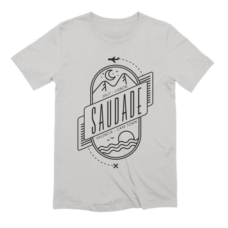 Saudade Black Men's Extra Soft T-Shirt by Jessika Savage Artist Shop