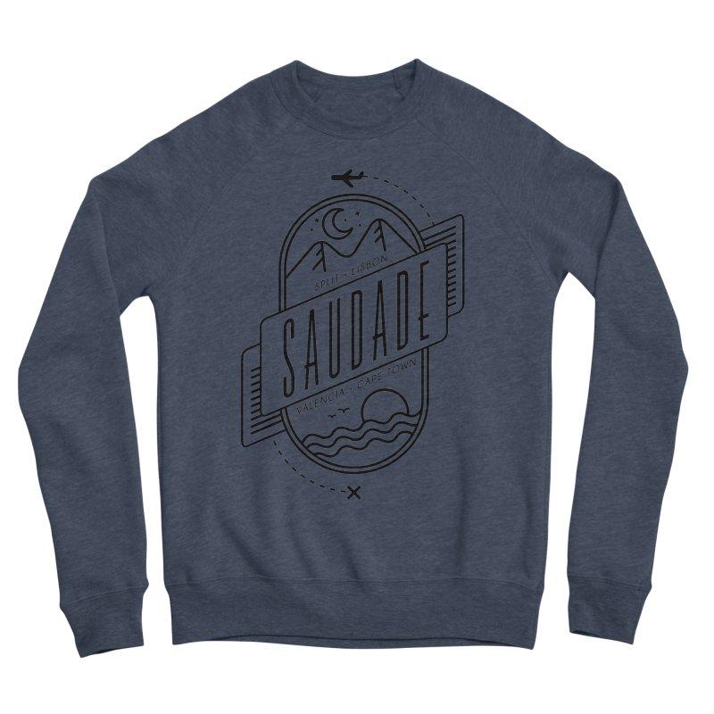 Saudade Black Men's Sponge Fleece Sweatshirt by Jessika Savage Artist Shop
