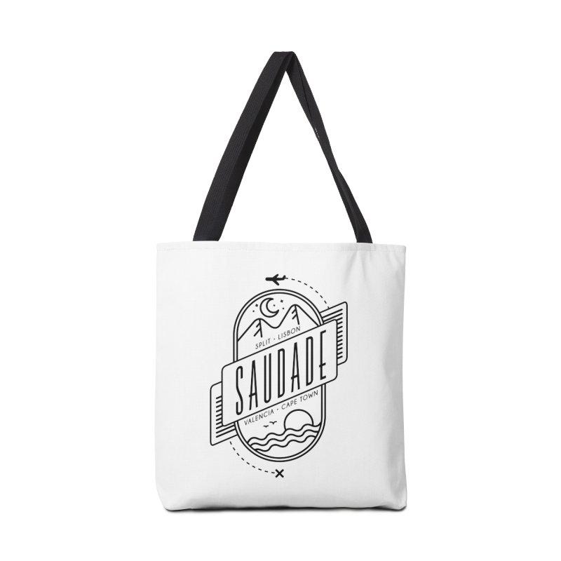 Saudade Black Accessories Tote Bag Bag by Jessika Savage Artist Shop