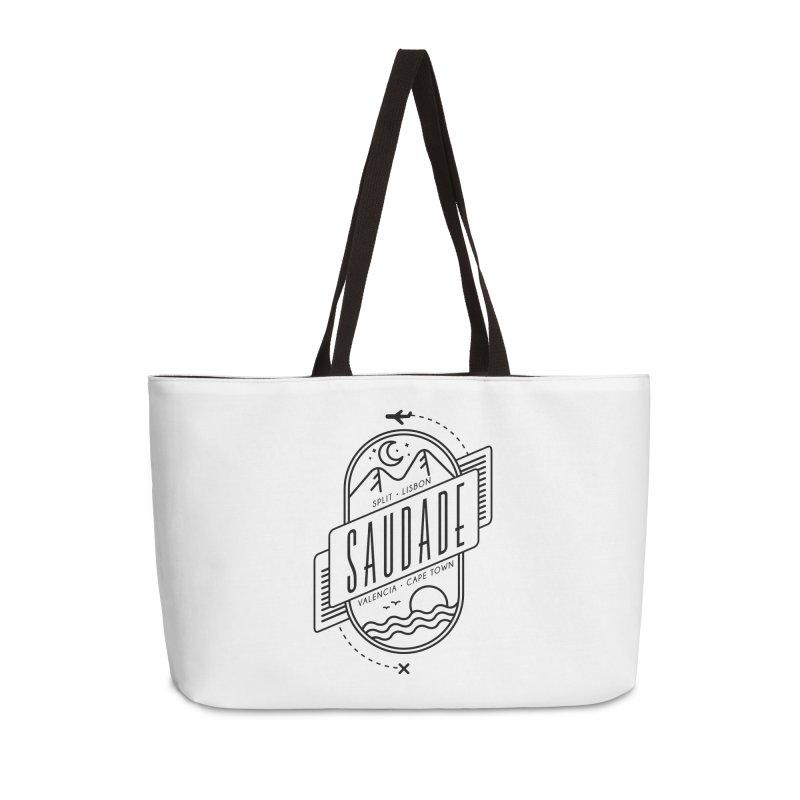 Saudade Black Accessories Weekender Bag Bag by Jessika Savage Artist Shop