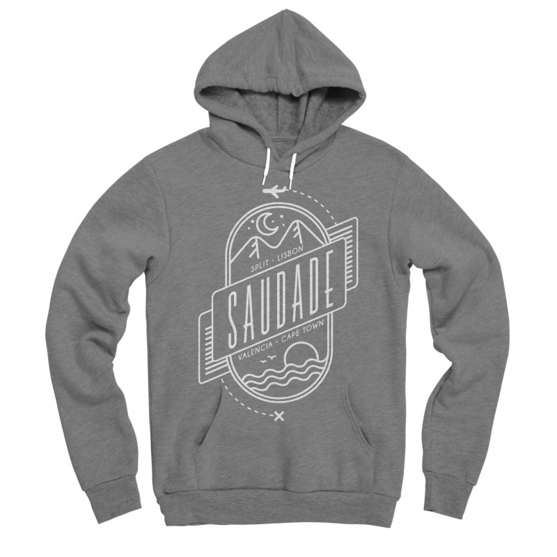 Saudade Design - White Men's Sponge Fleece Pullover Hoody by Jessika Savage Artist Shop