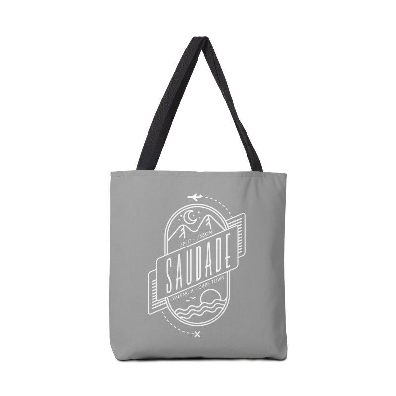 Saudade Design - White Accessories Tote Bag Bag by Jessika Savage Artist Shop