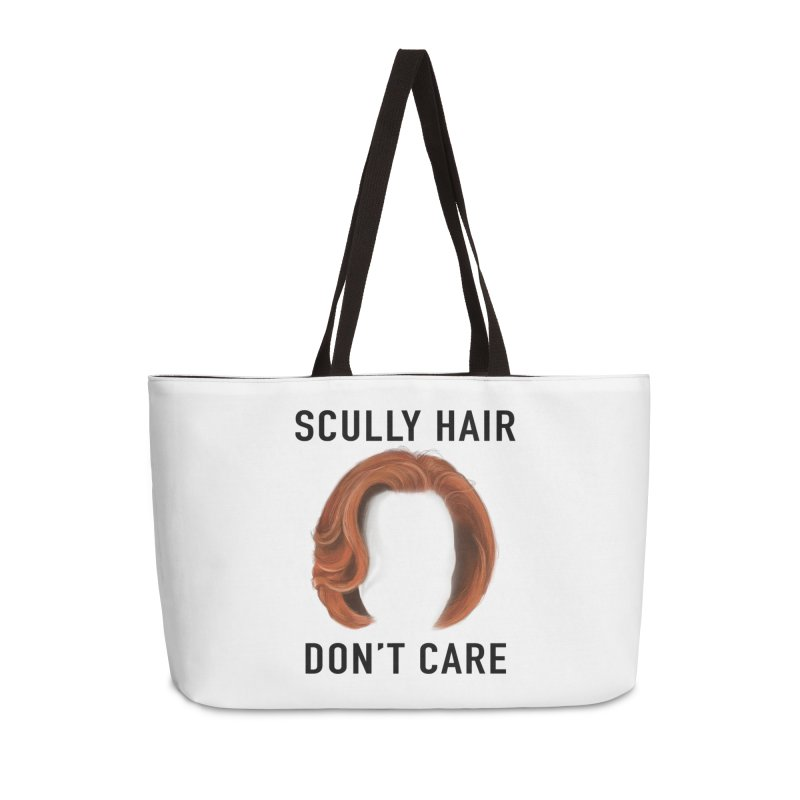 Scully Hair Don't Care - Classic Accessories Weekender Bag Bag by Jessika Savage Artist Shop