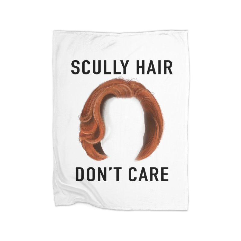 Scully Hair Don't Care - Classic Home Fleece Blanket Blanket by Jessika Savage Artist Shop