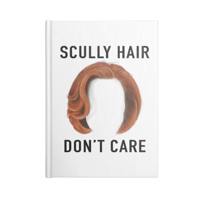 Scully Hair Don't Care - Classic Accessories Blank Journal Notebook by Jessika Savage Artist Shop
