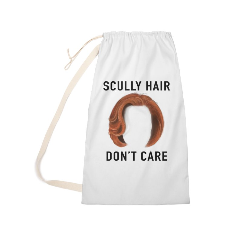 Scully Hair Don't Care - Classic Accessories Laundry Bag Bag by Jessika Savage Artist Shop